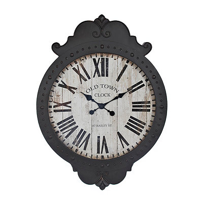 Hazel Black Vintage Clock