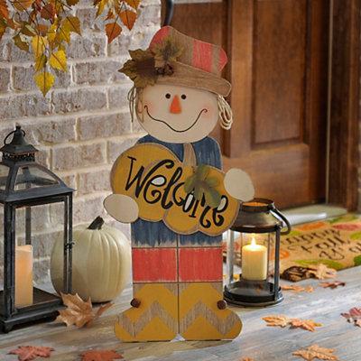 Scarecrow Boy Wooden Easel