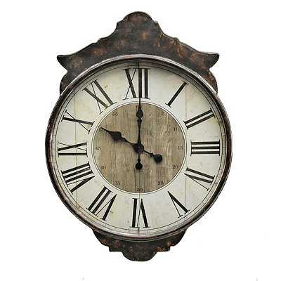 Hazel Brown Vintage Clock