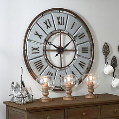 Carlisle Galvanized Metal Clock
