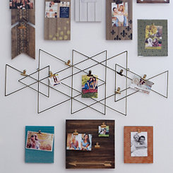 Aztec Gold Metal 7-Clip Collage Frame