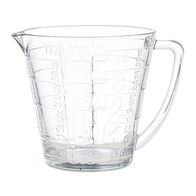 Embossed Glass Measuring Cup
