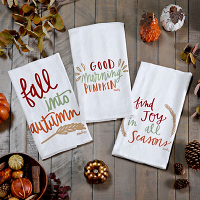 Fall Tea Towels, Set of 3
