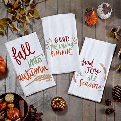 Fall Tea Towels, Set of 3