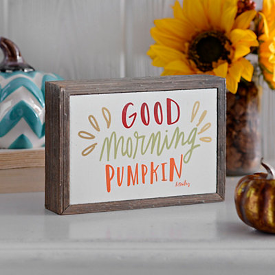 Good Morning Pumpkin Barnwood Box Sign