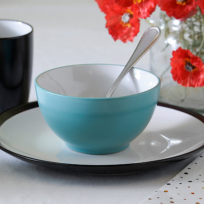 Turquoise and White Parker Bowl