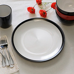 Black and White Parker Dinner Plate