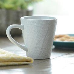 White Burlap Pattern Mug