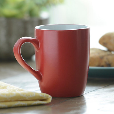 Red and White Parker Mug