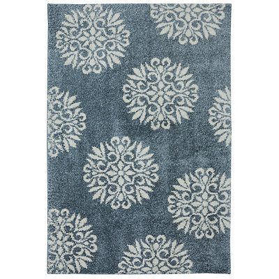 Exploded Medallions Shag Area Rug, 8x10