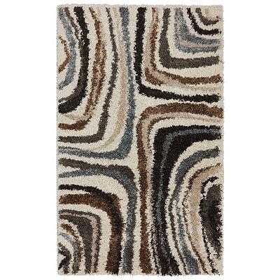 Ivory Salem Shag Area Rug, 5x7
