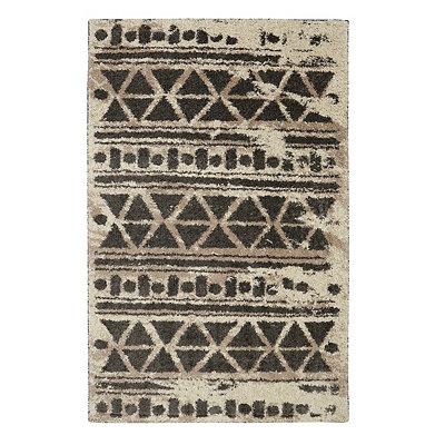 Cocoa Urban Grid Shag Area Rug, 8x10