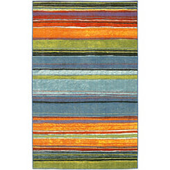 Rainbow Nylon Print Area Rug, 8x10