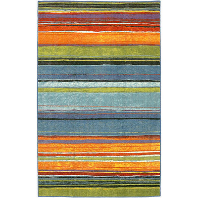 Rainbow Nylon Print Area Rug, 8x10
