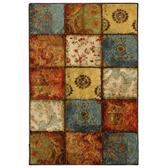 Artifact Panel Nylon Print Area Rug, 5x8