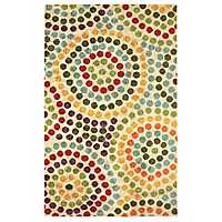 Mosaic Stones Nylon Print Area Rug, 5x8