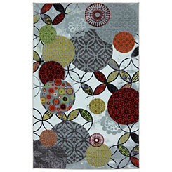 Give and Take Nylon Print Area Rug, 5x8