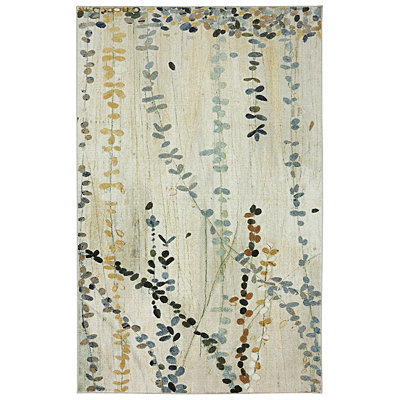 Trailing Vines Nylon Print Area Rug, 5x7