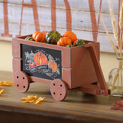 Happy Harvest Wooden Wagon