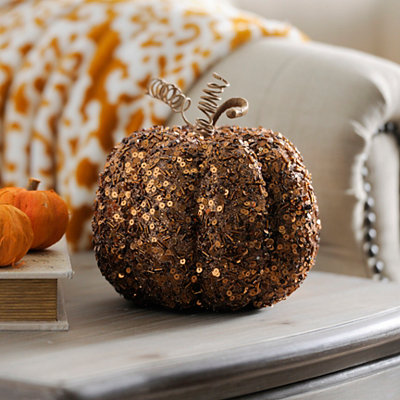 Beaded Bronze Mini Pumpkin