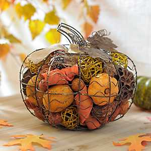 Wire Pumpkin with Pumpkin Spice Filler
