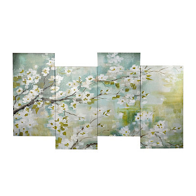 Cherry Blossom Staggered Canvas Art Print
