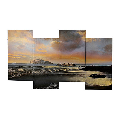 Coastal View Staggered Canvas Art Print