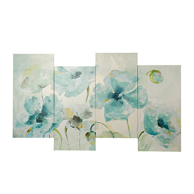 Watercolor Garden Staggered Canvas Art Print