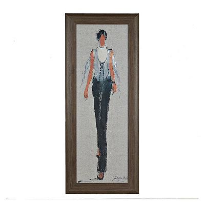 Catwalk Strut I Framed Art Print