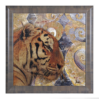 Golden Safari Tiger Framed Art Print