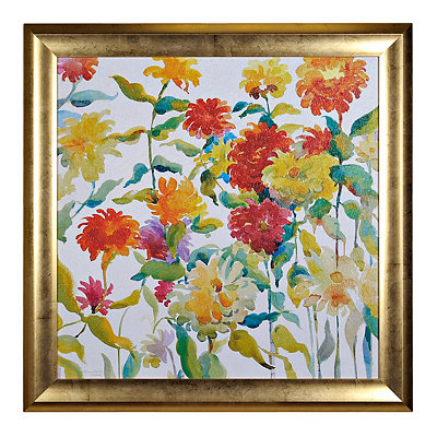Watercolor Floral Brights I Framed Art Print