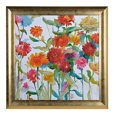 Watercolor Floral Brights II Framed Art Print