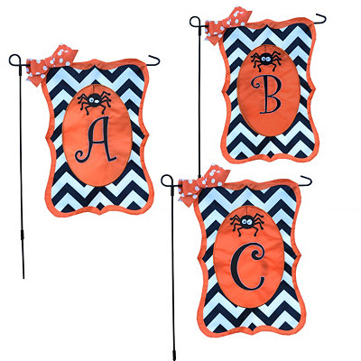 Chevron Spider Monogram Flag Sets