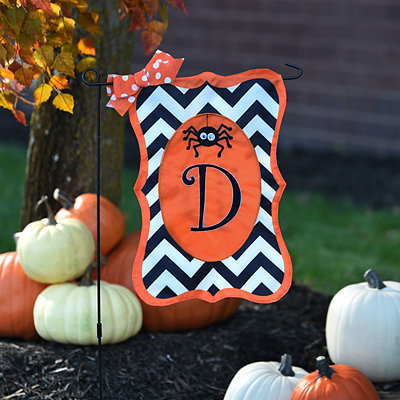 Chevron Spider Monogram D Flag Set