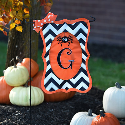 Chevron Spider Monogram G Flag Set