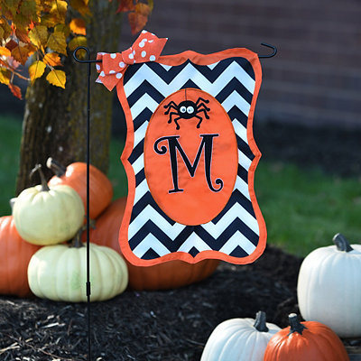 Chevron Spider Monogram M Flag Set