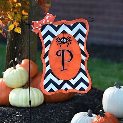 Chevron Spider Monogram P Flag Set