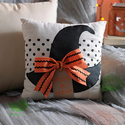 Halloween Witch Hat Pillow