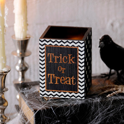 Trick or Treat Halloween Candle Holder