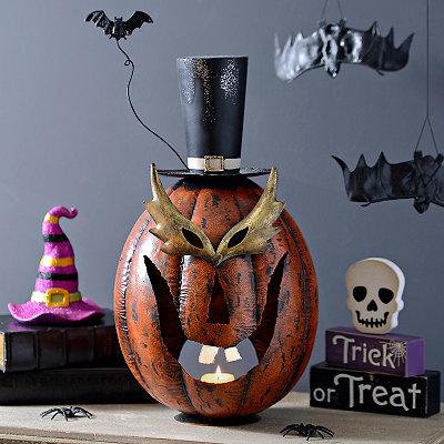 Halloween Masked Pumpkin Lantern