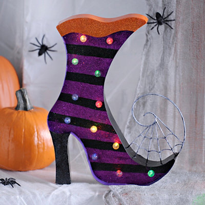 Halloween LED Glitter Witch Shoe