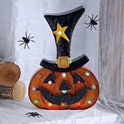 Halloween LED Glitter Jack O' Lantern
