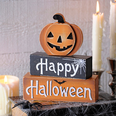 Happy Halloween Jack O' Lantern Word Blocks