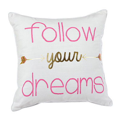 Follow Your Dreams Arrow Pillow