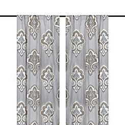 Taupe Mandana Curtain Panel Set, 84 in.