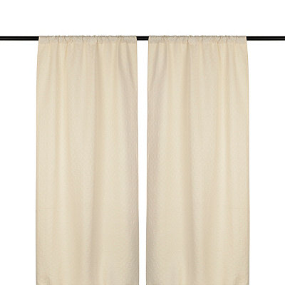 Taupe Rutland Curtain Panel Set, 84 in.