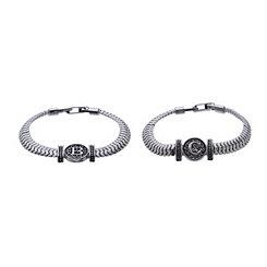 Silver Monogram Link Bracelets