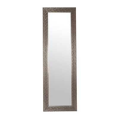 Silver Studded Over-the-Door Mirror
