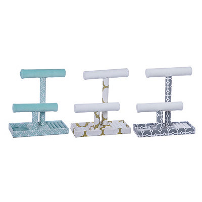 Geometric T-Bar Jewelry Stands