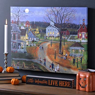 Trick or Treat Eve LED Canvas Art Print